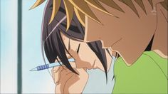 It seems that kiss from Usui is distracting Misaki's focus, can't really blame her. Usui is already released from hospital even though he's still wrapped in bandages. Best Romantic Comedy Anime, Usui Takumi, Maid Sama Manga, Dengeki Daisy, Kaichou Wa Maid Sama, A Silent Voice, Manga Characters, Anime Shows, Shoujo