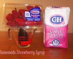 Homemade Strawberry Syrup!