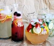 Flavored lemonade recipes. Good with or without Grey Goose added in.