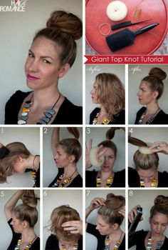 """I have tried the """"sock bun"""" before with no success, but this looks doable."""