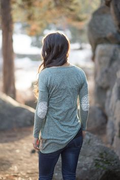 Asymmetrical Sage with Lace Top