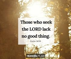 """He promises, """"Those who seek the Lord lack no good thing"""" (Psalm Treat God's provision as an adventure. Lay your needs before him and watch him provide. Psalm 34, Proverbs 31, 1 Timothy 4 12, The Daniel Plan, Seek The Lord, Bible Love, Daniel Fast, Lions, Jesus Christ"""