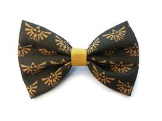 Zelda Triforce Fabric Hair Bow  from Crashedhope Designs