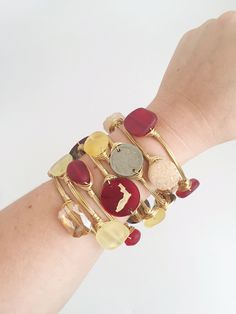 Florida State Inspired Bracelets, Personalized and Monogrammed Bangles, Game Day Style, Go Noles, FSU Inspired Jewelry, Garnet and Gold, Florida State University