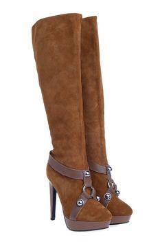 Suede High Heel Boot Brown Alexander McQueen Special Offers Casual Best-Brand Authentic