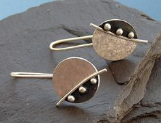 Sterling Silver Earrings  - Silver disc earrings - Silver jewelry - Handcrafted jewellery