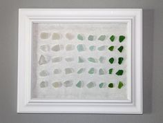 Sea Glass Art. Need to do this with the Sea Glass I found on the beach in Positano :)
