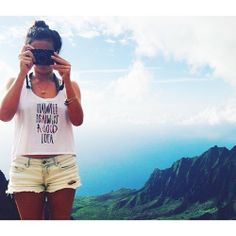 """With views like this, how could you not? """"hawaii is always a good idea"""" tees by Lucky We Live Hawaii"""