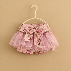 New Girls Floral Pink Blue TUTU Party Summer Shorts Age 2 3 4 5 6 Years | eBay