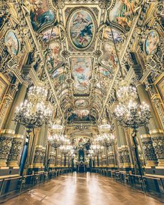 Palais Garnier in Paris by @wonguy974 A masterpiece of architectural opulence legendary for playing host to the fictional yet ubiquitous Phantom of the Opera, the Opéra Garnier still exudes the same enigmatic atmosphere it radiated in the late 1800s