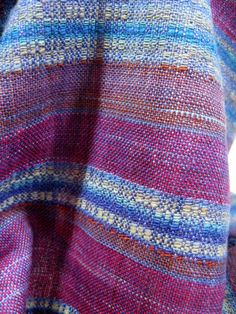scarf handwoven from handspun merino wool and handpainted tussah __ by Margery Meyers Haber (mmhaber) on etsy