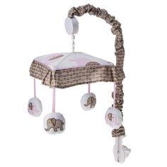 Sweet Jojo Designs Elephant Musical Mobile - Pink