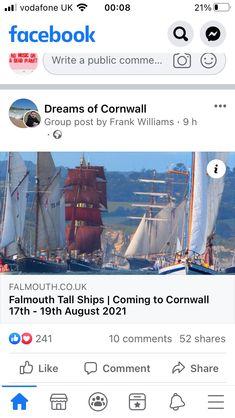 Falmouth, Tall Ships, Cornwall, Sailing Ships, Boat, Dinghy, Boats, Sailboat, Ship