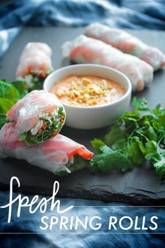 another take on Fresh Spring Rolls and peanut sauce (with miso and ketchup, of all things) // shutterbean
