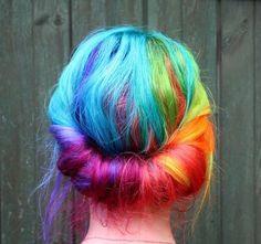 Rainbow Hair Colour...