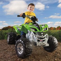 Fisher-Price Power Wheels Kawasaki KFX 12-Volt Battery-Powered Ride-On, Green mAY NTO CHARGE AS WELL AS RED?