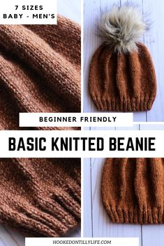 Free Knitted Beanie Beginner Pattern Diy Slouchy For Men Easy , kostenlose strickmütze anfänger muster diy slouchy für männer einfach , bonnet tricoté gratuit pour débutant diy slouchy pour homme facile Knitting For Kids, Easy Knitting, Knitting For Beginners, Knitting Projects, Knitting Ideas, Beanie Knitting Patterns Free, Beanie Pattern Free, Free Pattern, Beginner Knitting Patterns