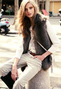 bac439da88 Fur vest - Anna Selezneva for Mango Fall 2012 Catalogue