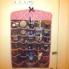 Easy makeup storage idea