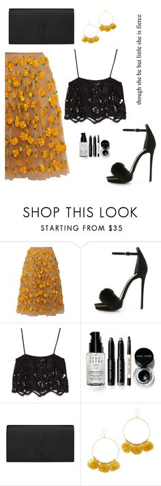 """""""Mix."""" by gatocat ❤ liked on Polyvore featuring Michael Kors, Monique Lhuillier, Miguelina, Bobbi Brown Cosmetics, Yves Saint Laurent and Chan Luu"""