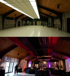 AMAZING article on using draping to transform ugly venues. SOOOO helpful!