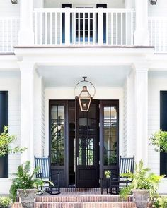Modern Farmhouse Exterior with Black Front Door