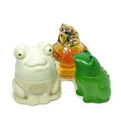 Vintage FROG Avon Bottles Set Enchanted by PeachyChicBoutique