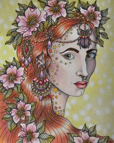 Coloured By Iris Eenmae Hanna Karlzon Dagdrommar Daydream With Her Wonderful Coloring Book Translated As