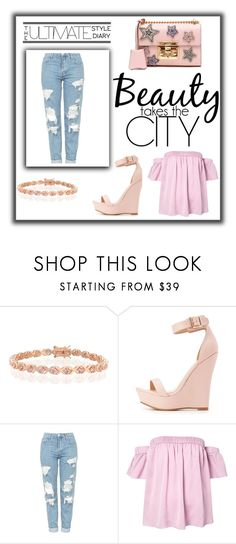 """""""Beauty takes City"""" by andiifez ❤ liked on Polyvore featuring Bling Jewelry, Charlotte Russe, Topshop, Milly and Gucci"""
