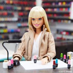 Nailed it! Visiting the @opi_products headquarters for a major #GelColor manicure.  #manimonday #barbie #barbiestyle