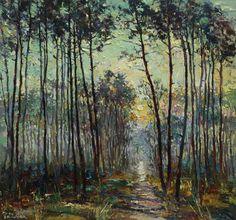 Morning Forest Landscape painting (2016) Oil painting by Anastasiya Valiulina | Artfinder
