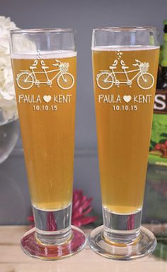 beer glasses for the couple