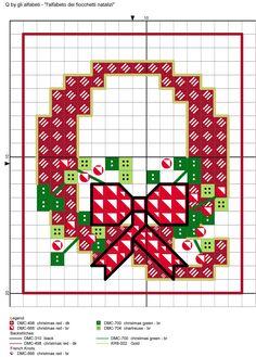 alfabeto dei fiocchetti natalizi Q