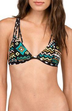 Volcom Instinct Print Triangle Bikini Top available at #Nordstrom