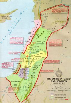 Hebrew empire map