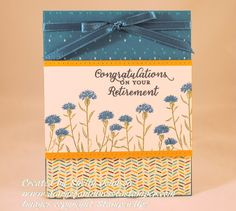 Diary of a Minnesota  Wild About Flowers stamp set by Stampin'Up! Retirement card