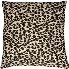 Leopard Print Cotton Small Throw Pillow