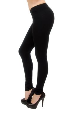 Vivians Fashions Extra Long Leggings  Cotton Junior Size Black 1X *** Click on the image for additional details. (This is an affiliate link)