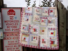 nifty quilts: White and Red and Stitched All Over