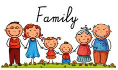 Illustration of Happy family with two children vector art, clipart and stock vectors.