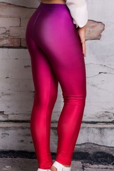 Bright leggings that pack a punch! Made in Australia Fabric: Bright Polyester, Spandex Sewing: Hand cut and sewn with love Model is wearing a small Nylons, Colored Tights Outfit, Living Dead Clothing, Ski Pants, Fasion, Cool Girl, Leather Pants, Beautiful Women, Sexy