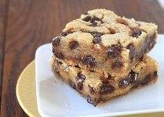 Slow Cooker Chocolate Chip Bar Cookies Recipe