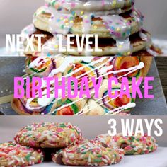 Next-Level: Brithday Cake, 3-Ways