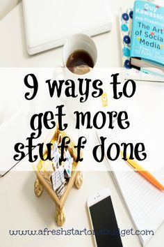 With life being super busy and overwhelming, figuring out ways to get more stuff done is SUPER important. Here are 9 ways I get more done.