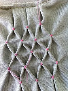 Smocking by hand