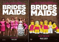 Pósters de cine hechos con LEGO: La boda de mi mejor amiga
