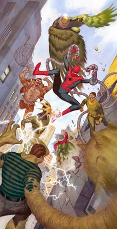 Spiderman Art, Amazing Spiderman, Marvel Comics Art, Marvel Heroes, The Sinister Six, Spectacular Spider Man, Marvel Wallpaper, Man Vs, Marvel Universe