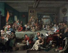 Hogarth, William - Elections : An election Entertainment - Sir John Soane's Museum, Londres William Hogarth, Caricatures, City Of Charleston, Thanksgiving Art, Party Scene, England, Oil Painting Reproductions, Art Uk, Your Paintings