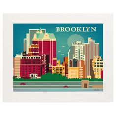 Brooklyn Print, $31, now featured on Fab.