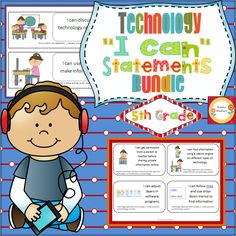"BUNDLE of ""I Can"" statements for technology standards. This is the Third Grade bundle and you will save 10% by buying both products together. $"